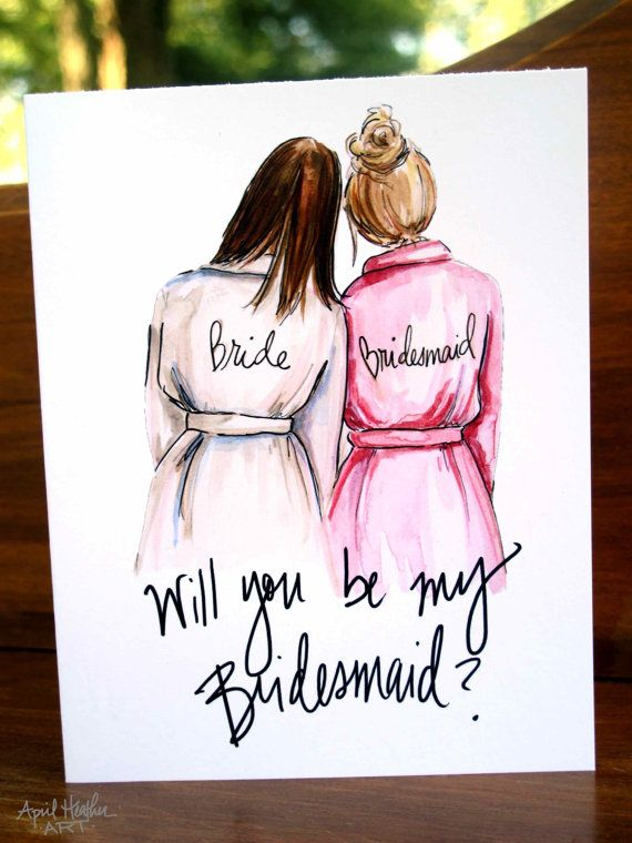 """Win a Set of Custom """"Be My Bridesmaid"""" Cards! Ends 12/15."""