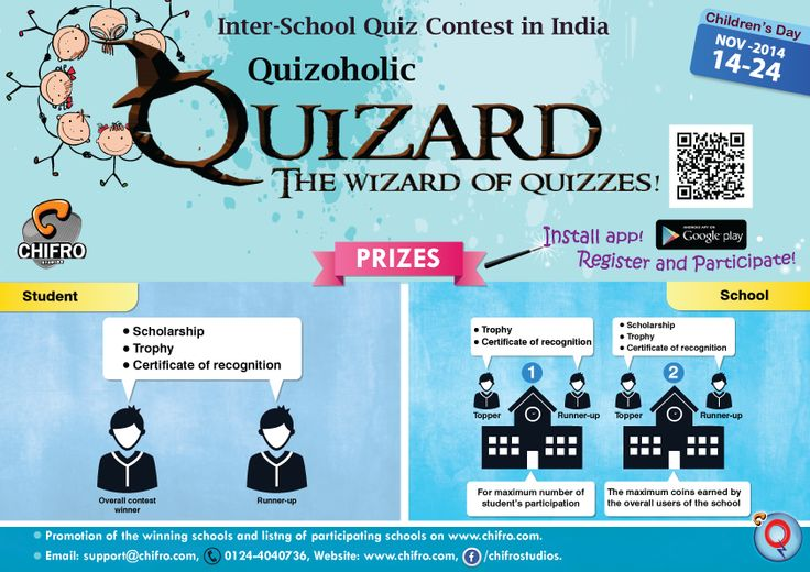 Participate in our Quizard contest & Win $100! Free Registration is open Now. Click on goo.gl/f1K7bR