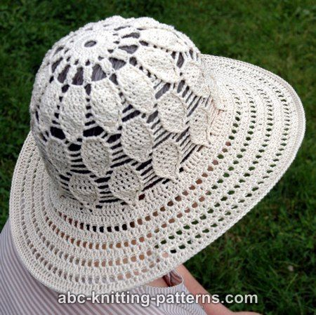 ABC Knitting Patterns - Acorn Summer Brim Hat