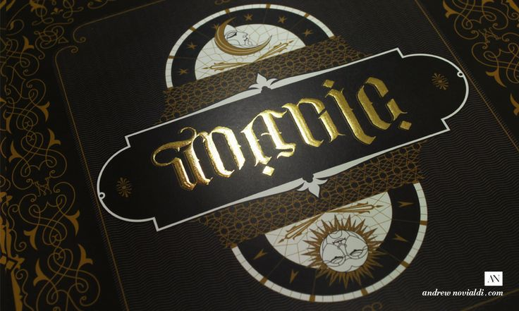 Gold Gilding Typographic Illusionist Poster Design