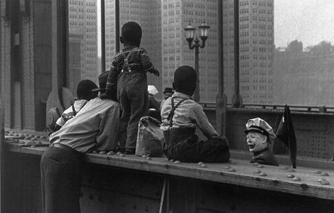 Shriner's Circus Parade, Sixth Street Bridge, W. Eugene Smith, 1956