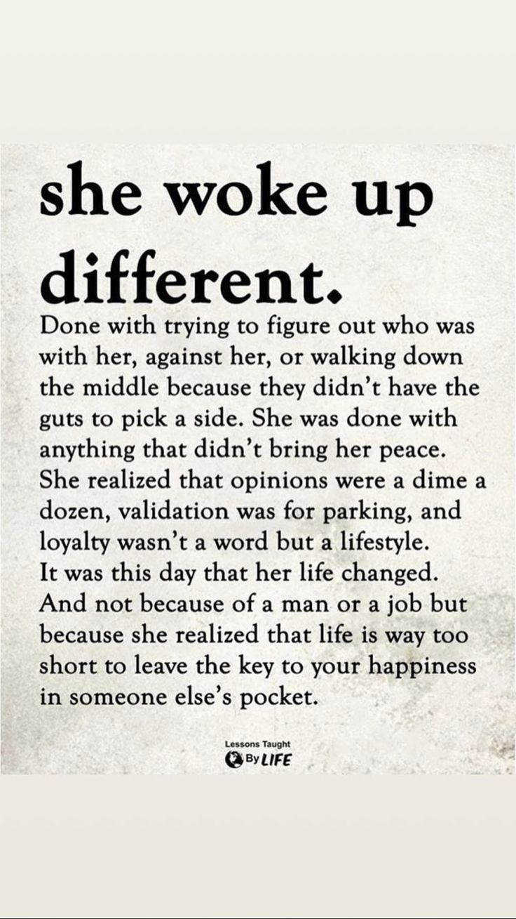 She woke up different  Words, Positive quotes, Inspirational quotes