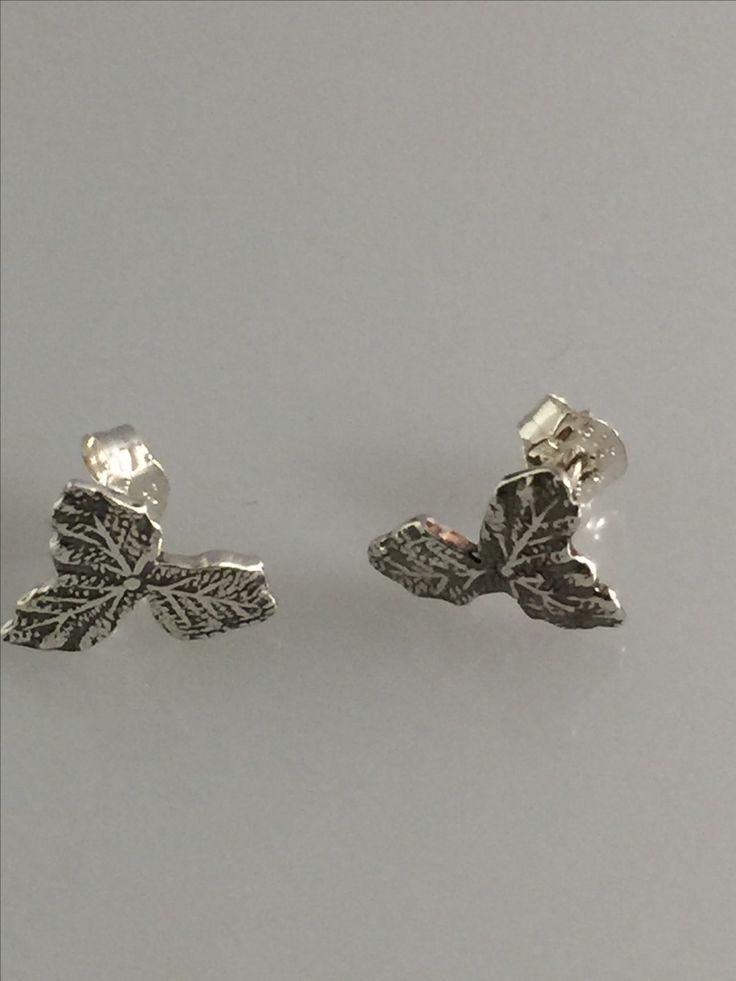 Earrings is made of silver spoon