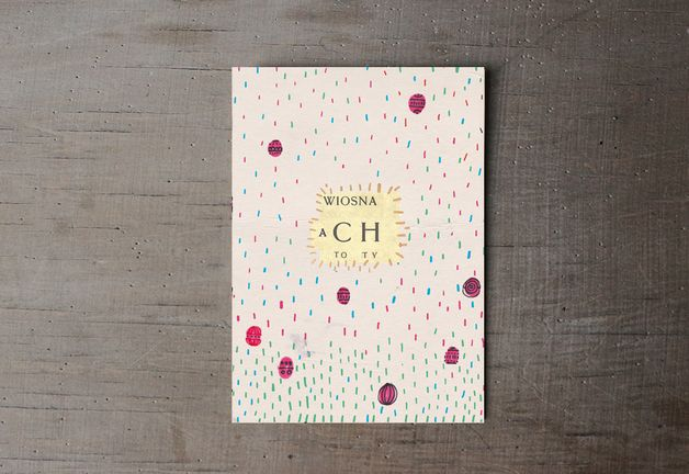 Kartka wiosenno-wielkanocna - DwieLeweRece - Kartki wielkanocne