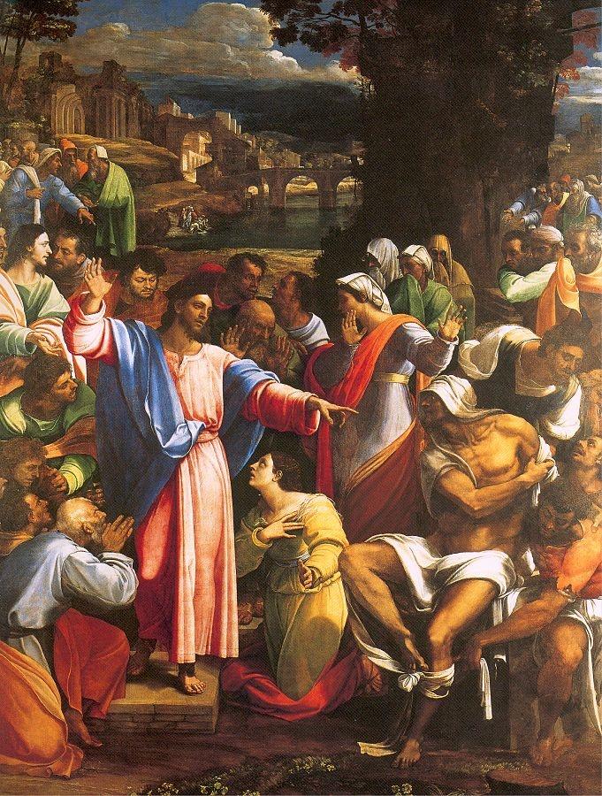 The Raising of Lazarus  about 1517-19, Sebastiano del Piombo