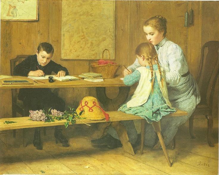 Albert Anker - homeschoolers ;)