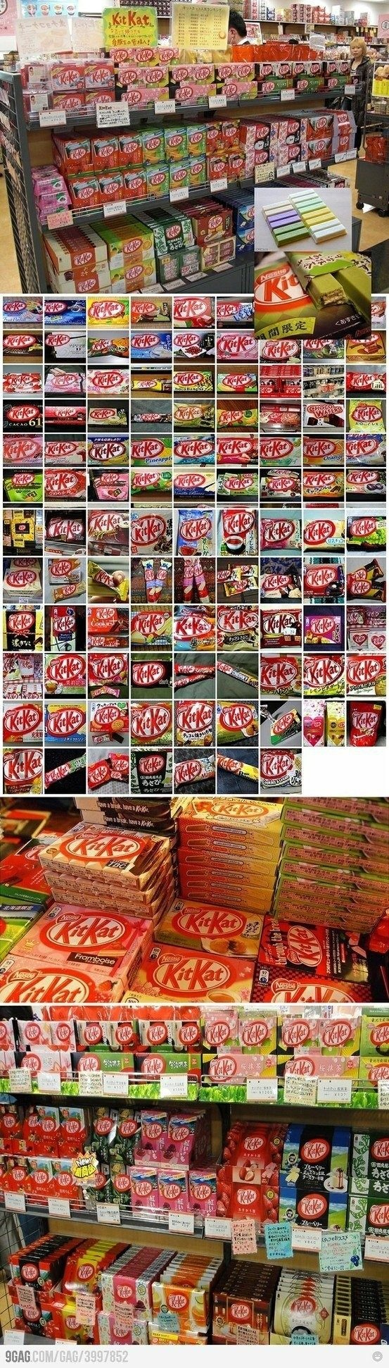 AHHH~ Look at all these Kit Kats!!! I love love love Kit Kats!!