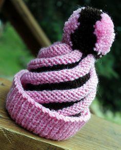 Swirled Ski Cap: free knitting pattern