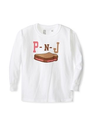 67% OFF Little Dilascia Kid's P-N-J Long Sleeve Tee (White)