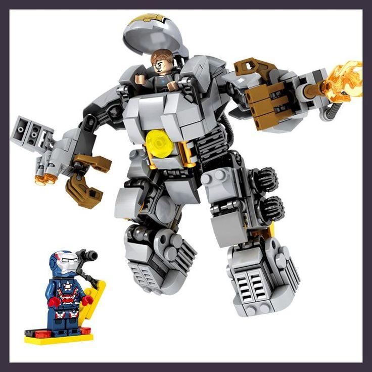 2016 NEW Super Heroes vengadores ladrillos IronMan Mark1 modelo MK1 mech bloque de construccion de bricolaje assemblage juguetes