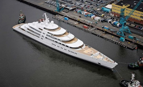 World's largest superyacht launched - TheTopTier.net - The Best in Luxury and Affluence