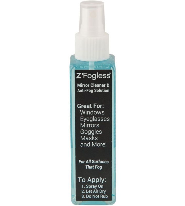 Keep your mirrors fog free with the help of this Anti-Fog Solution and Mirror Cleaner.