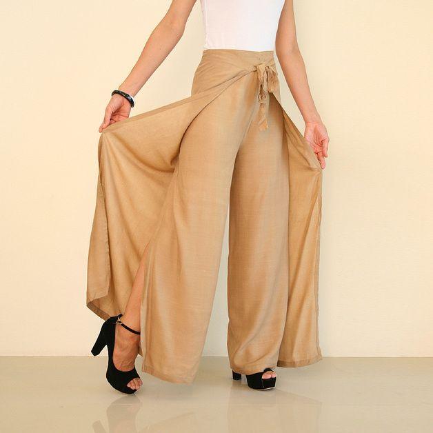 Wijde broeken - Palazzo broek Rok broek wikkelen broek - Een uniek product van thaifisherman op DaWanda