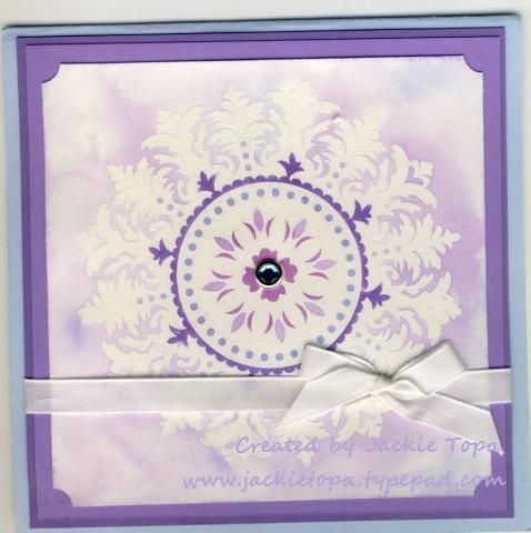 ZipLoc smoosh Medallion by jactop - Cards and Paper Crafts at Splitcoaststampers