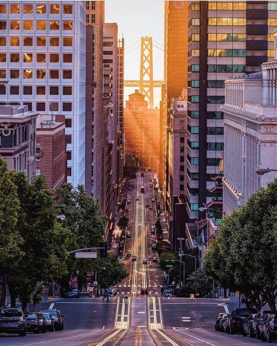 The Gorgeous California Street in San Francisco