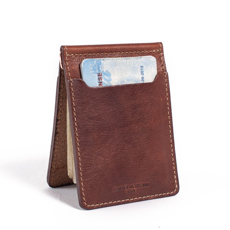 Money Clip Wallet Brown Leather Accessories For Him