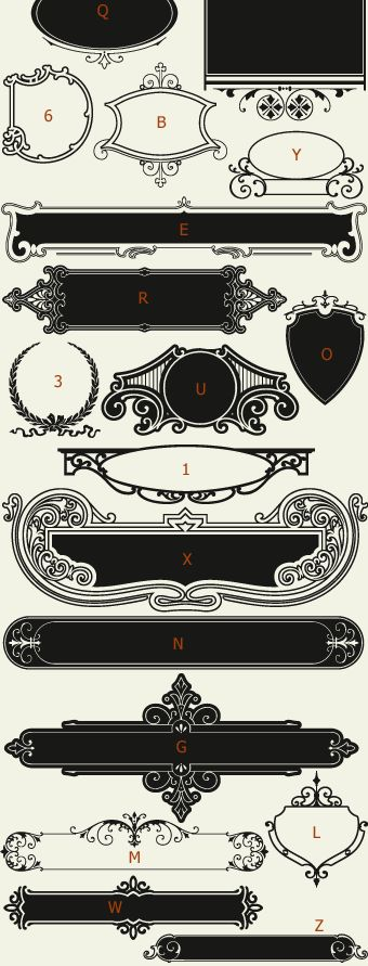 Letterhead Fonts / LHF Centennial Panels 2 / Decorative Panels