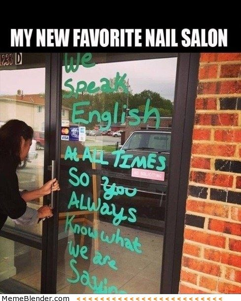 Haha, you'd like this nail salon, Mom! @Tina Thurneysen