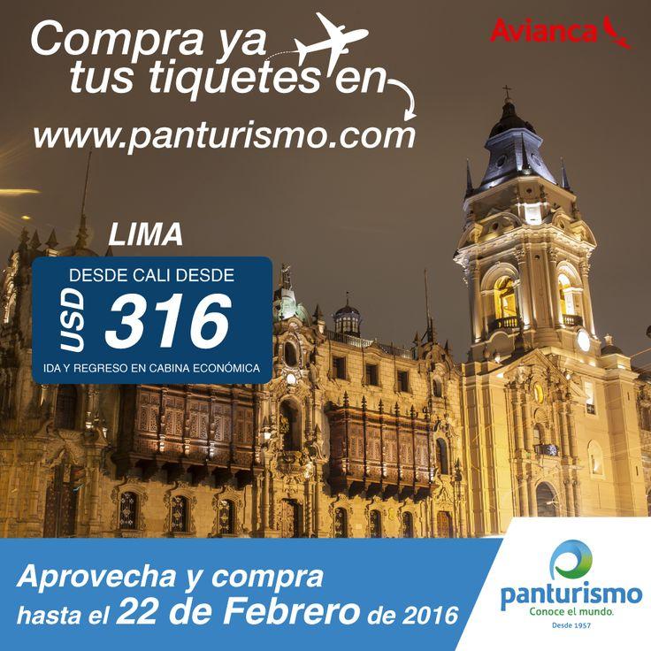 APROVECHA LIMA Desde USD 316. www.panturismo.com