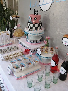 The Treat Table: The Treat Table's 50s theme soda float fountain
