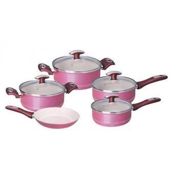 Jogo de panelas 5 peças rosa TONALITE Tramontina