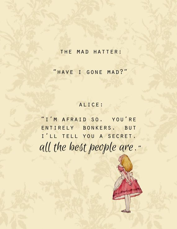 alice in wonderland madness quotes