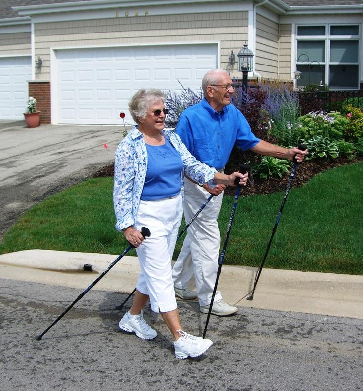 Nordic Walking is very popular among active seniors www.manorcharlotte.com