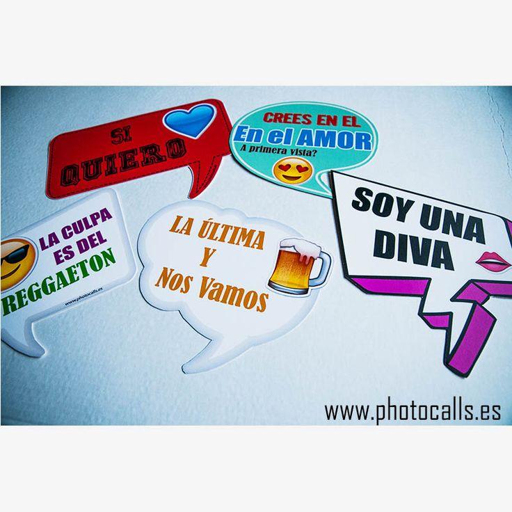 Carteles fiesta.Props Photobooth .Disfrútalos en tu photocall o en tu fiesta!. Atrezzo props carteles boda. #props #prop #photobooth info@photocalls.es