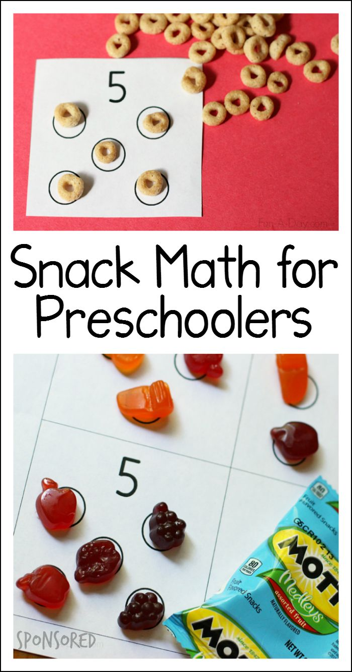 Math for preschoolers to play during snack time (sponsored by General Mills and…