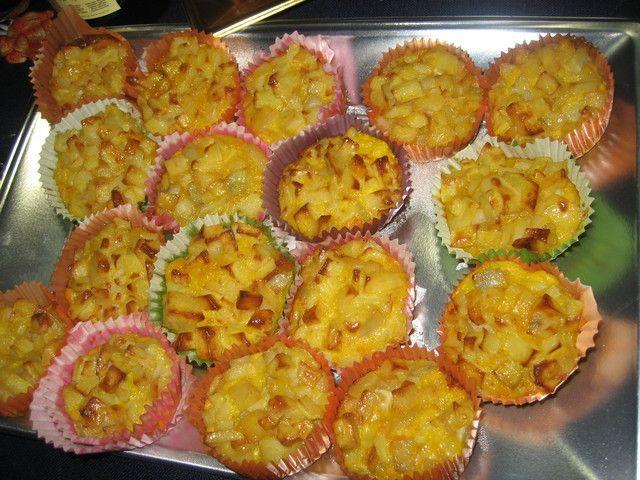 Caprichos de tortilla de patatas recipe tapas canapes for Canape quiche recipe