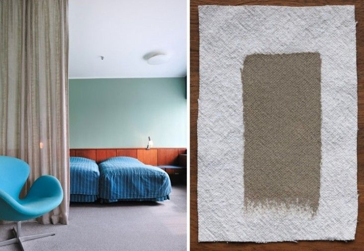 Arne Jacobsen's SAS Royal Hotel in Copenhagen Matched with Farrow & Ball London Stone, Remodelista