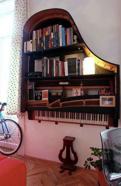 Some amazing recycled pianos