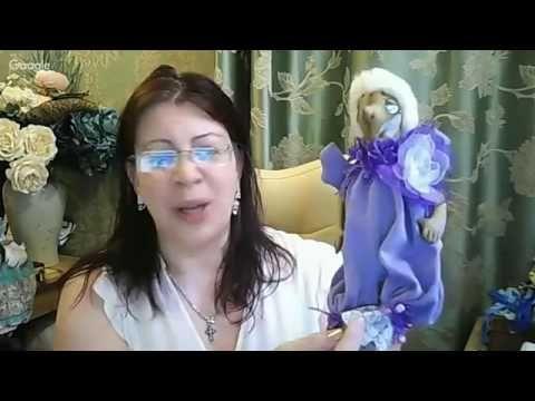 Анастасия Голенева, текстиль , ленивец - YouTube