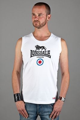 """In stock: The Hudson vest: £18  We're a big fan of these, which features a very cool design.  The sporty and fashionable sleeveless Hudson vest comes with a wide neck opening and the Lonsdale Target logo as that cool chest print.   Details:  100% combed cotton 180gr/m² Jersey knit  Available in white, chest size 38"""" to 40""""...find out more...http://bit.ly/1iu6Qq5..."""