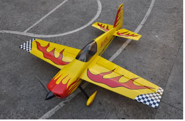 "Shipping From US Slick 70"" EP Electric RC Airplane 3D Aerobatic Balsa Wood Plane Oracover ARF"
