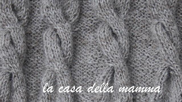 sciarpa con trecce di lana di alpaca 100% naturale