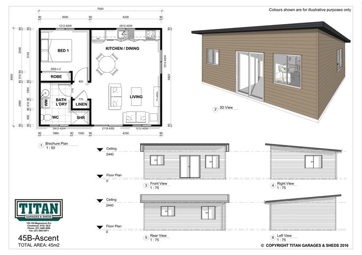 Self contained and comfortable, featuring an open plan living and dining layout plus the added advantage of a combined laundry-shower area making this little gem perfect for a weekend getaway or holiday park accommodation. Shown here in our Ascent design featuring a skillion roof.