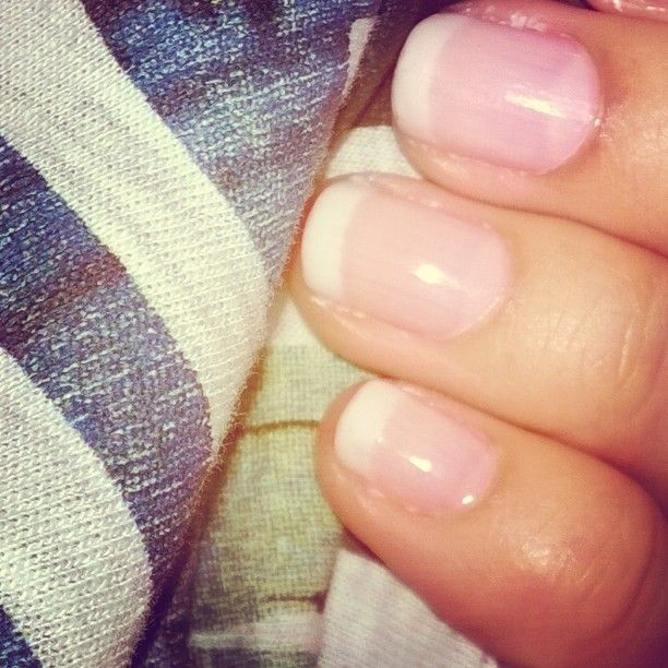 #Nails #nailpolish #white #tip #French #manicure #girl #nail #addition #for #ever