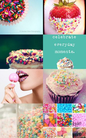 Rainbow, Sprinkles and all that glitters by Gabbie on Etsy #etsy #treasury #colorful #kawaii #gcreations
