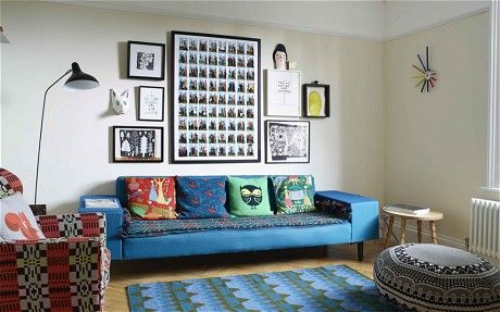 Interiors: Donna Wilson's colourful London home - Telegraph #donnawilson