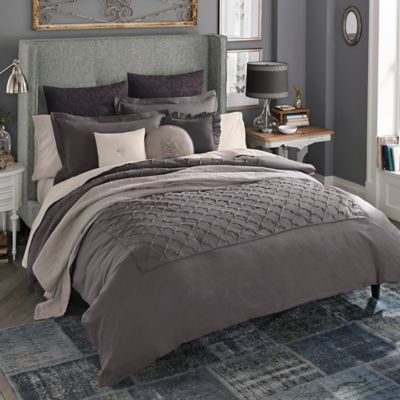 bring rare beauty to your bed with the exquisite beekman bellvale duvet cover dressed in a pretty pin tuck pattern that brings dimension