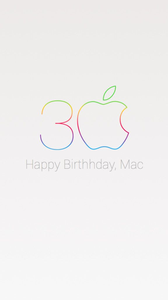 Apple's Mac 30th Anniversary logo - just in time for my 30th Birthday