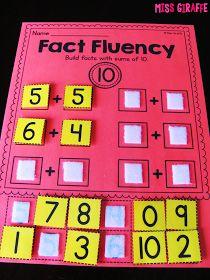 Miss Giraffe's Class: Fact Fluency in First Grade