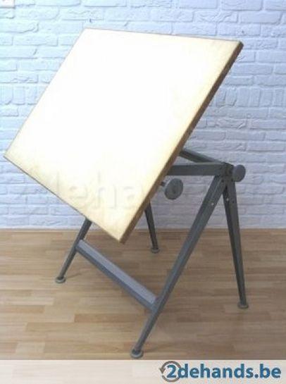 Vintage teken- tot bureautafel, Rietveld