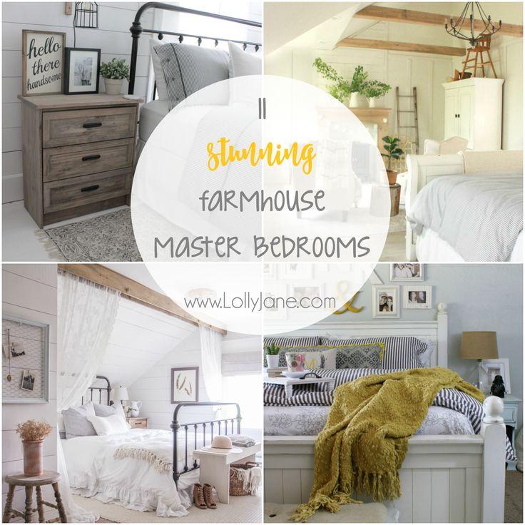 11 stunning farmhouse master bedrooms