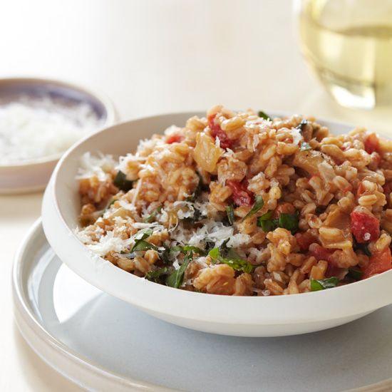 Cheesy Farro-and-Tomato Risotto | Food & Wine