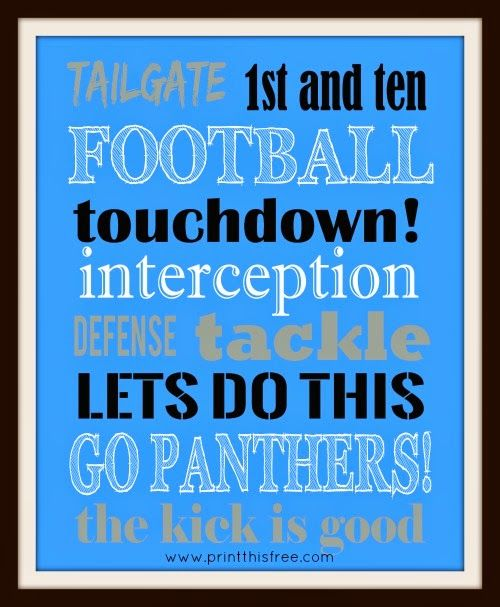 Carolina Panthers free print. Print this free: NFL Team Prints - Free Printables