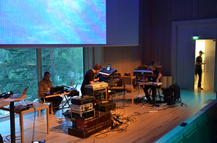 Legendary Finnish electronic band Nemesis performing at Ambient Music Conference 2014. Photo: Metsähallitus / Jukka-Pekka Ronkainen