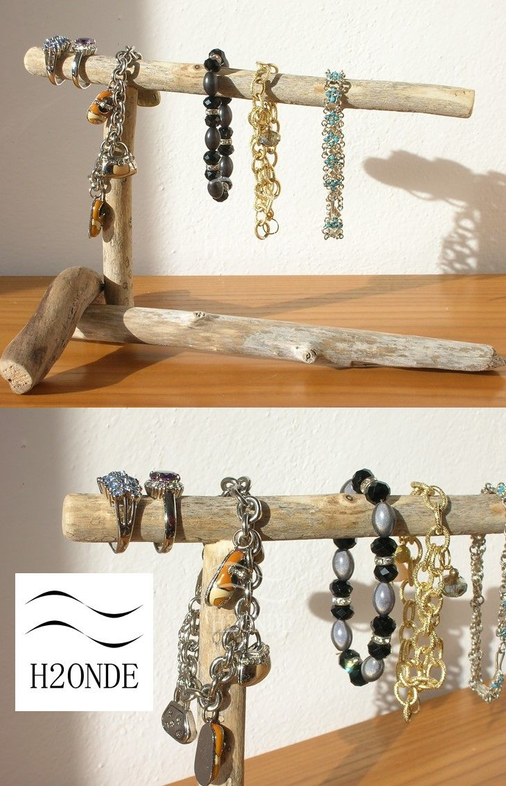 Bracelet display stand driftwood jewelry organizer watches display stand shabby chic modern organizer t bar gift her driftwood home decor h2onde Jewellery  Jewellery Storage  Jewellery Boxes  driftwood display  wood display stand  jewelry display  t bar organizer shabby chic t bar  jewelry organizer  wood standing holder  rustic wood decor  watch display stand  best bracelet holder wood necklace holder  best gift for wife  christmas gift idea Porta bracciali legno di mare espositore shabby