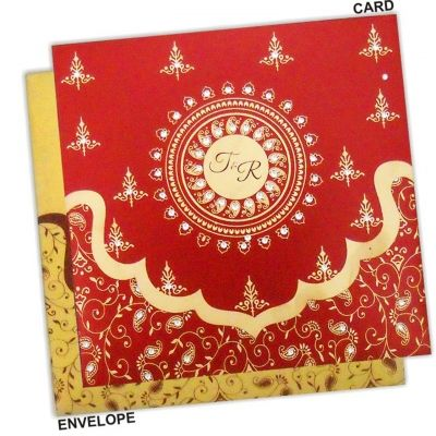 Find a very beautiful and traditional Indian Wedding Card